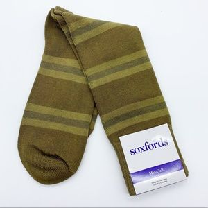 Soxfords Olive Oiled Mid-Calf Casual Socks